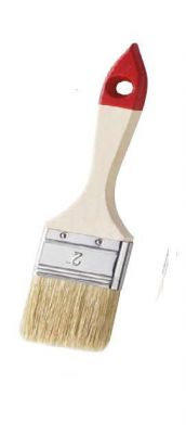Плоска четка Mako за алкидни бои - бяло-червено
